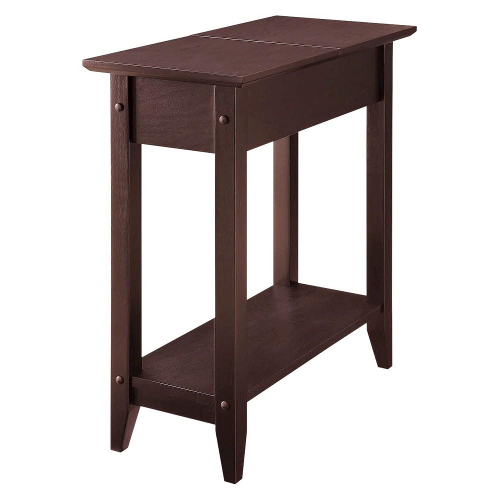 American Heritage Flip Top End Table Espresso Breighton Home Flip Top Table End Tables With Storage End Tables