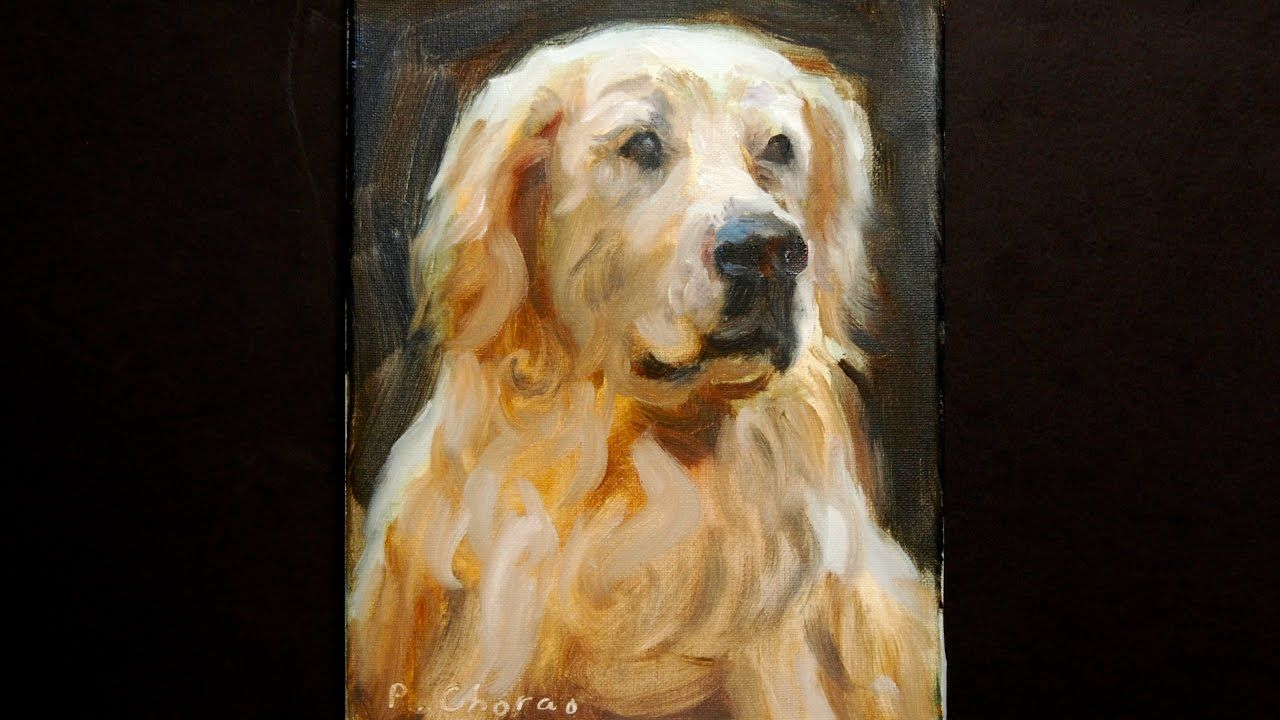 Golden Retriever Real Time Painting Demonstration Paint Faster