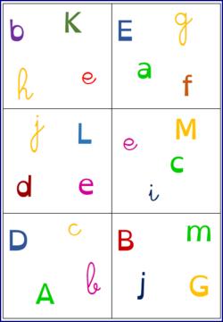 Dobbles Des Lettres En 3 Ecritures Des Lettres Lettre A Alphabet A Imprimer