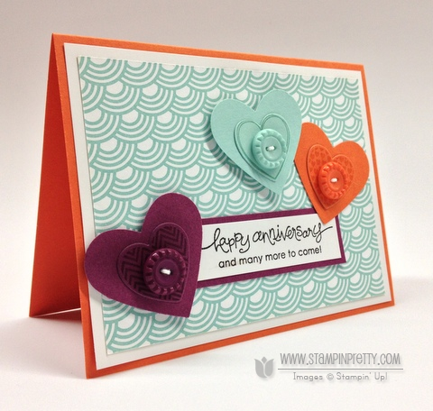 hearts a flutter - stampin' up!