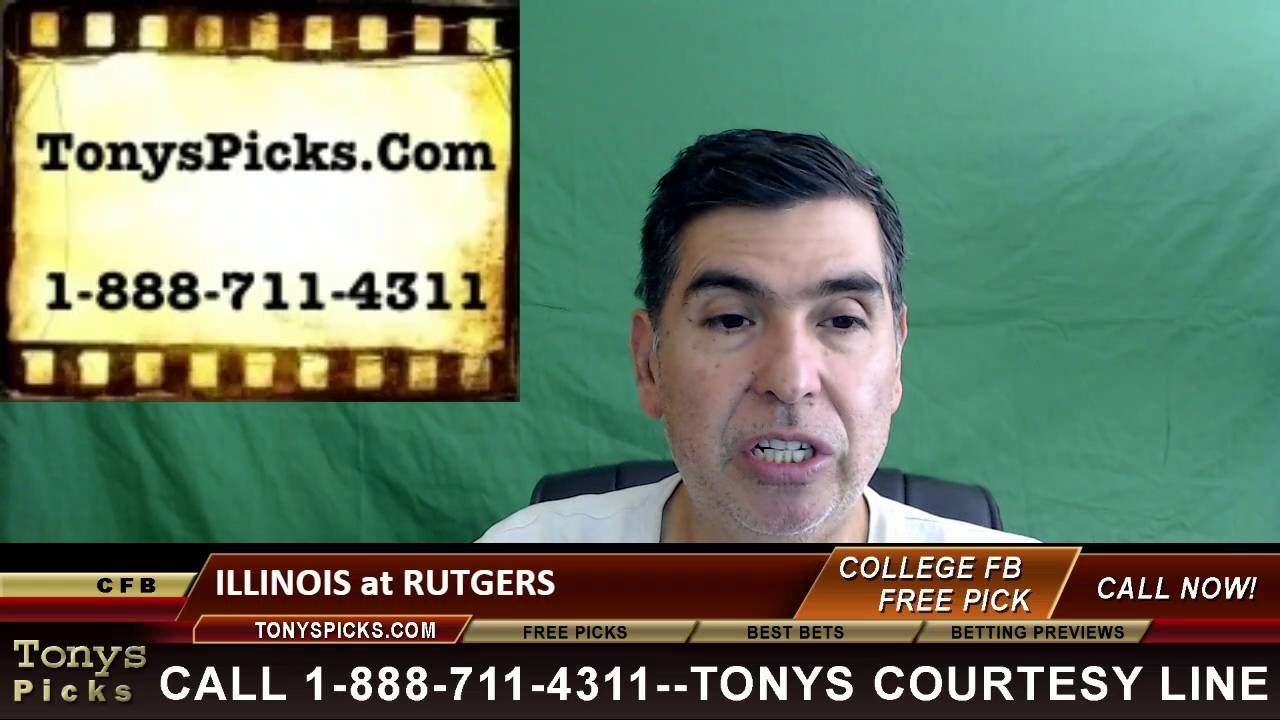 Illinois vs. Rutgers Scarlet Knights Pick Prediction College Football Od...