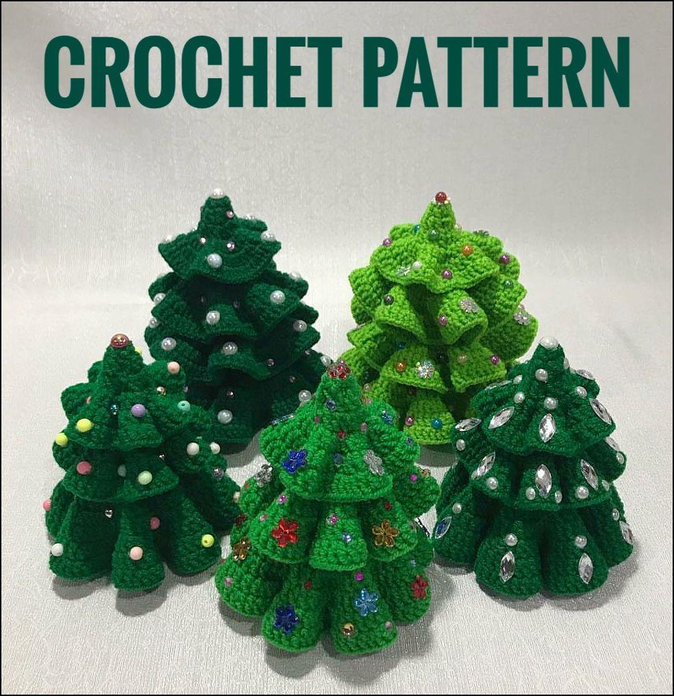Crochet Christmas Tree Pattern Amigurumi Christmas Pattern Etsy In 2020 Crochet Christmas Trees Pattern Christmas Crochet Christmas Tree Pattern