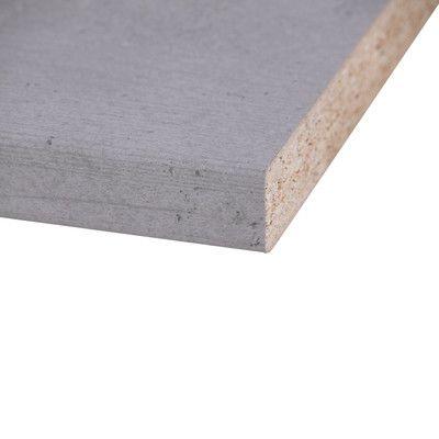 Piano cucina laminato Cemento grigio 3.8 x 60 x 304 cm ...