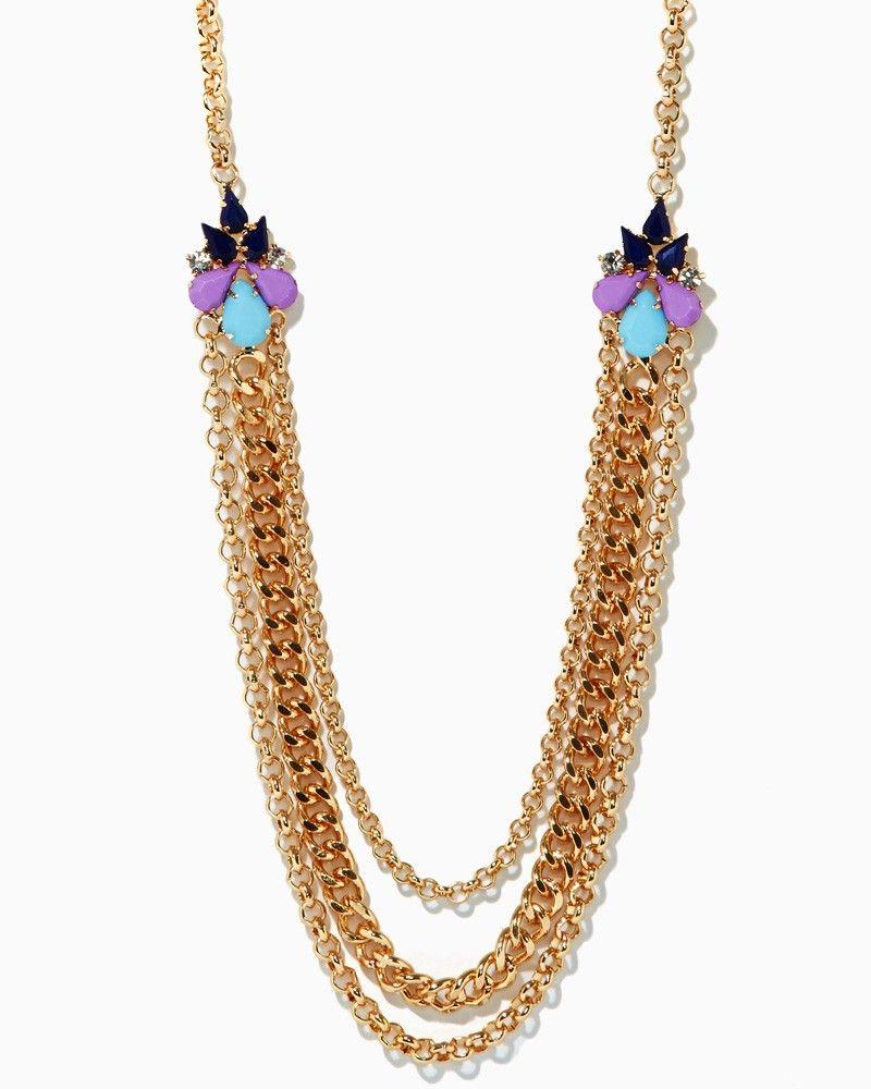 charming charlie   Blondie Jewel Chain Necklace   UPC: 450900339555 #charmingcharlie