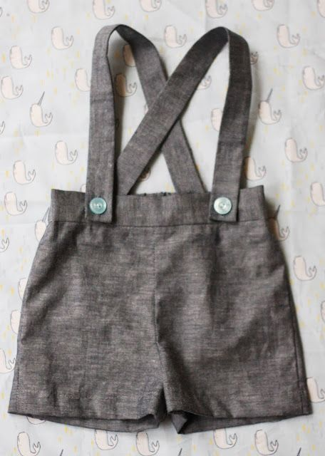 Sweet little vintage-inspired suspender shorts -- free pattern that ...