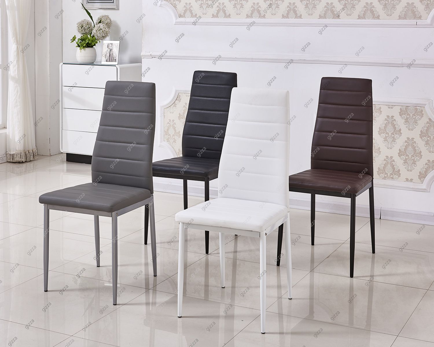 Strange Details About 2 4 6 Dining Chairs Leather Seat Padded Side Evergreenethics Interior Chair Design Evergreenethicsorg