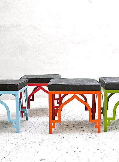 lovely outdoor stools http://www.casamidy.com/furniture/stools/pouf.html