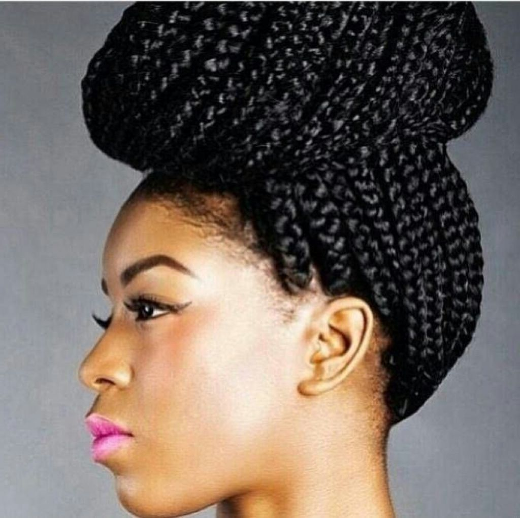 Box braids bun hairstyles ideas Überprüfen sie mehr unter