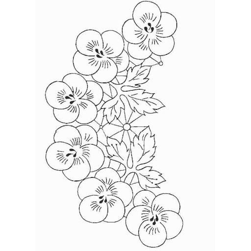 Flores Enredaderas Para Colorear Bordados En Cinta Patrones Disenos De Arte Bordados A Mano Bordado De Buho