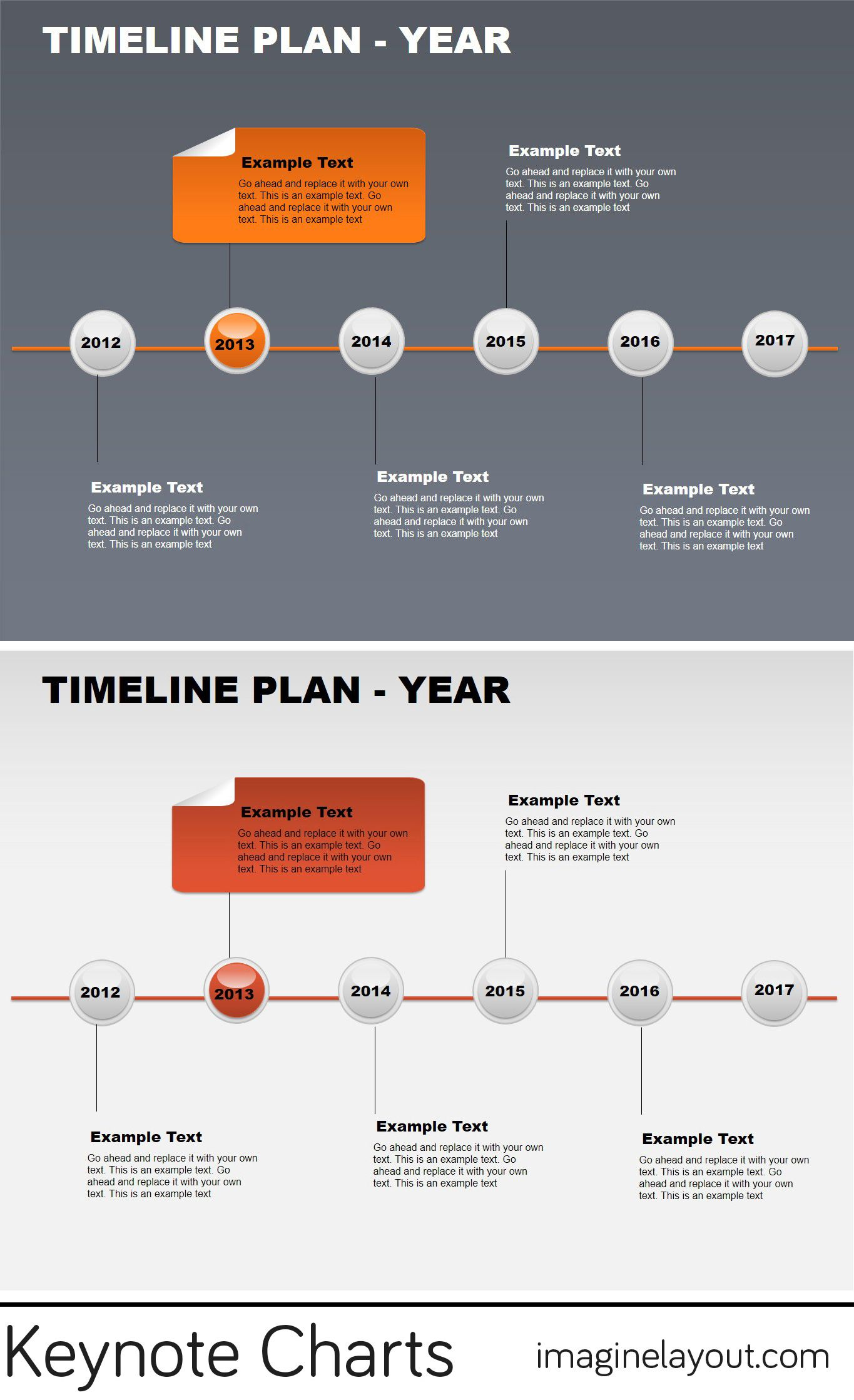 Download TimeLine Plan Year Free Keynote charts templates | Free ...