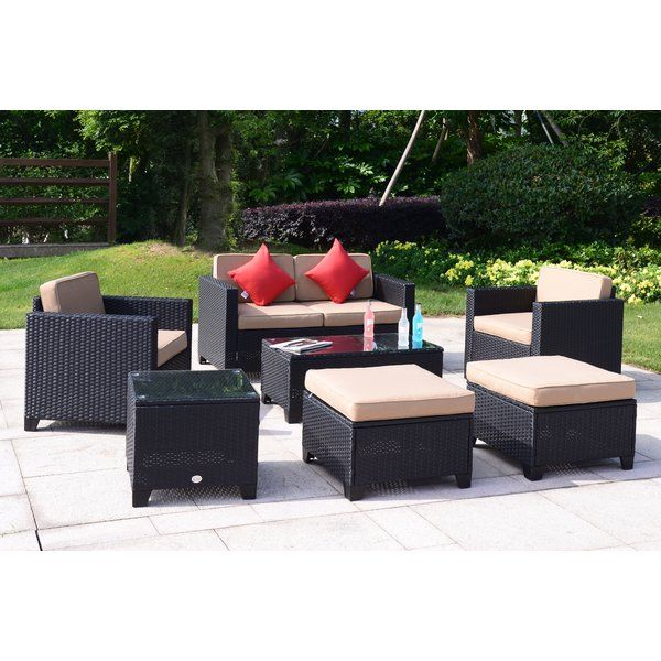 Best Place To Buy Wilbraham 7 Piece Rattan Sofa Seating Group With