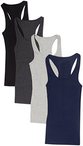 Zenana Outfitters 4 Pack Womens Basic Ribbed Racerback Tank Top Light and easy to style, ultra soft and stretchy, these basic ribbed racerback tank tops are the perfect tanks for layering a look or wearing on their own! These long, light weight tank tops feature a round, scoop neck design. Made of 92% cotton, 8% spandex.Ultra soft and stretchyRibbed design92% Cotton, 8% ElastaneMachine Wash ColdSizes run small  Dresses, outfits, outfits for girls, outfits for school, outfit