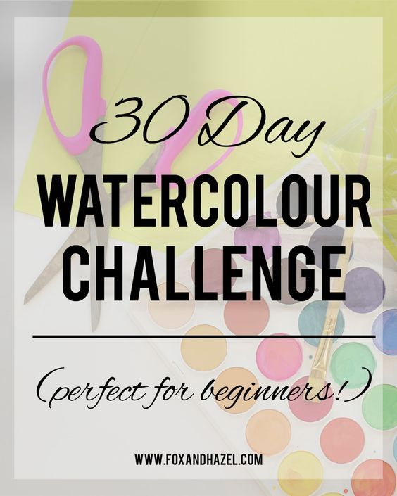 Ta Da The 30 Day Watercolor Challenge Watercolour Challenge