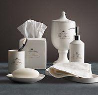Bathroom Accessories Restoration Hardware le bain french porcelain accessories | countertop | restoration