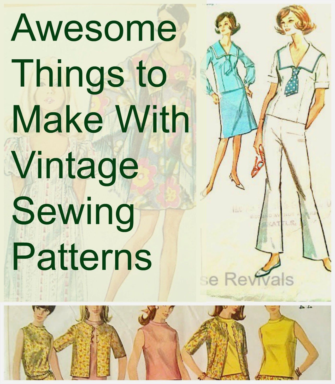 House Revivals: Cool Things to Make With Vintage Sewing Patterns ...