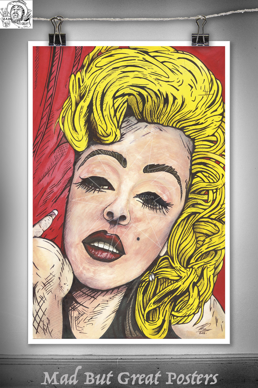 Marilyn Monroe - Thomas Spencer, original poster, painting, pop art ...