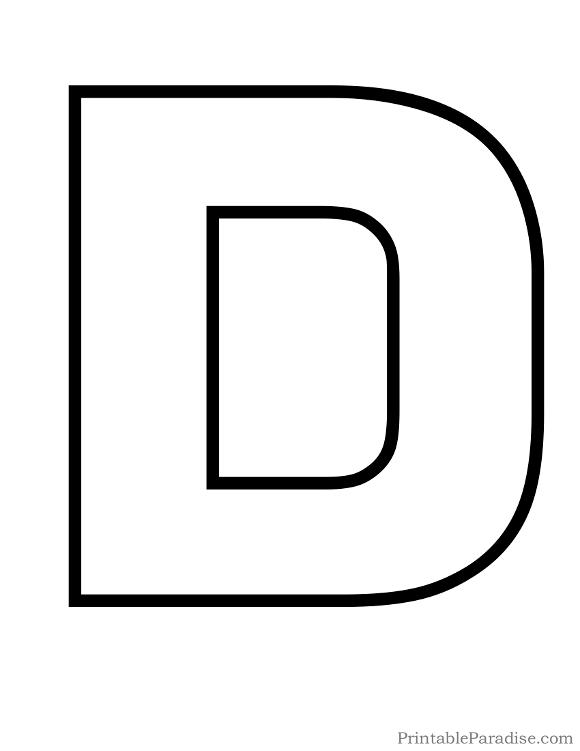 Printable Letter D Outline | Sunday school | Bubble letters