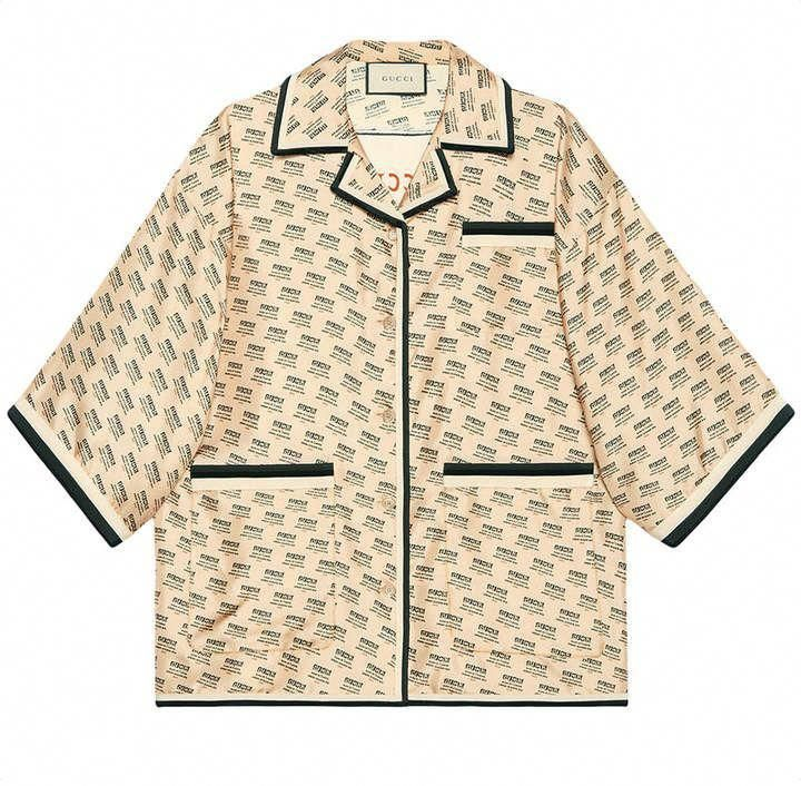 50ee87308fe Gucci invite stamp silk shirt  bestcasualoutfits