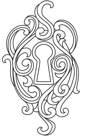 Qui Y A Til Derriere Cette Serrure Lock TattooA TattooCameo TattooSternum TattooColouringColoring PagesAdult ColoringKey