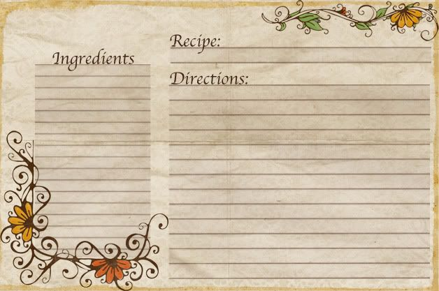 Free Recipe Card Templates | Aletheia: Free Recipe Cards Made By