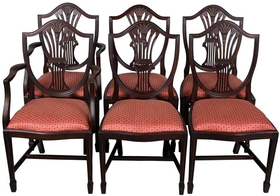 Mahogany Wheat Sheath Chair Set Ebano