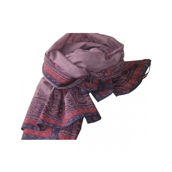Pre-owned COMPTOIR DES COTONNIERS Purple Cotton Scarf ($43) ❤ liked on Polyvore featuring accessories, scarves, comptoir des cotonniers, cotton scarves, purple shawl, cotton shawl and purple scarves