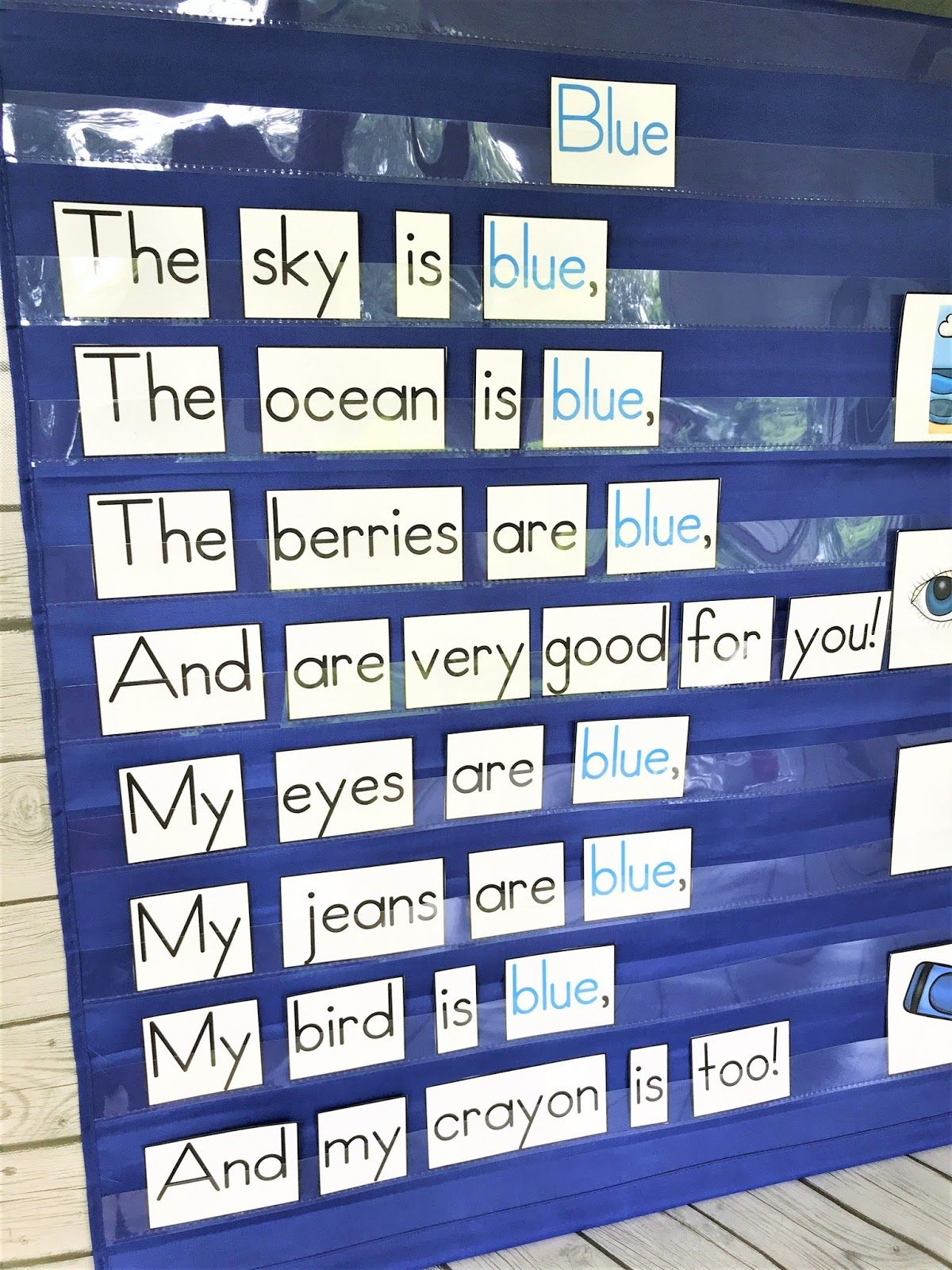 Color Word Poems For Shared Reading In