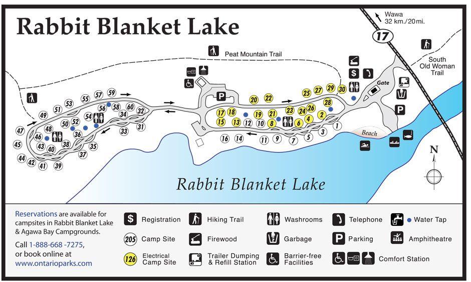 devils lake campground map Rabbit Blanket Lake Campground Lake Mountain Trails devils lake campground map