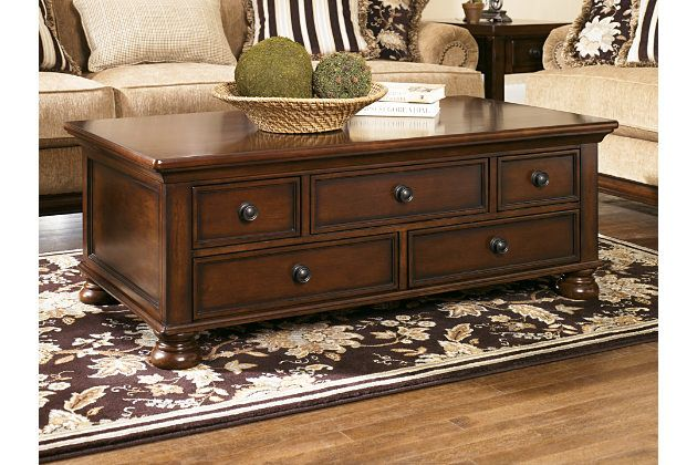 Porter Coffee Table By Ashley Homestore Brown Coffee Table With