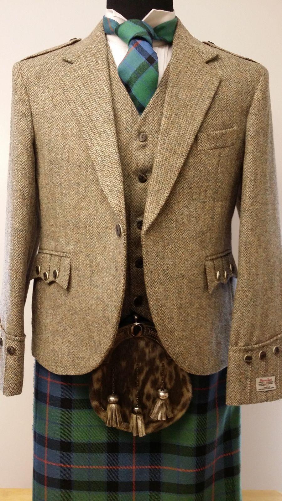 Harris Tweed Argyll Kilt Jacket Vest 4 Kilts Official