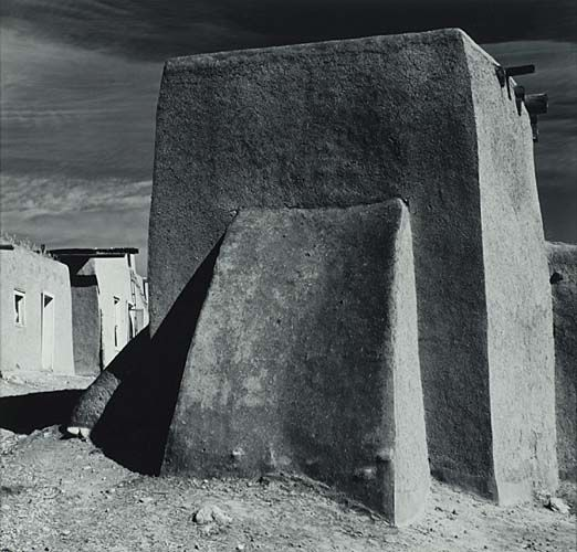 1938 Ansel Adams Church In Spanish American Town Cordova New Mexico Ansel Adams Most Famous Photographers Famous Photographers
