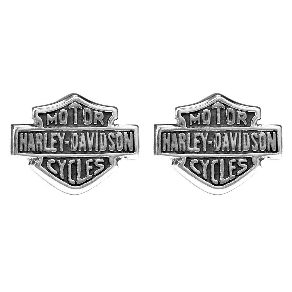 Harley Davidson Womenu0027s Medium Bar U0026 Shield Post Earrings   House Of Harley  Davidson