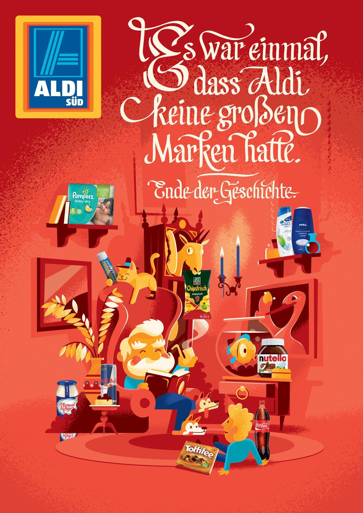 Revolution Illustrierte Werbekampagne Von Aldi Sud Aldi Aldi Werbung Werbekampagne