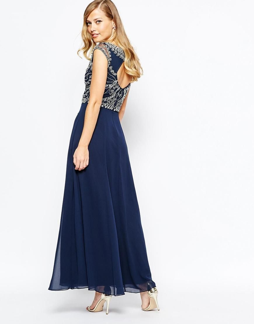 Frock and Frill | Frock and Frill Embellished Top Maxi Dress With ...