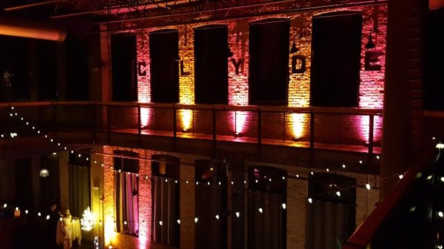 Clyde Iron Works wedding and event lighting