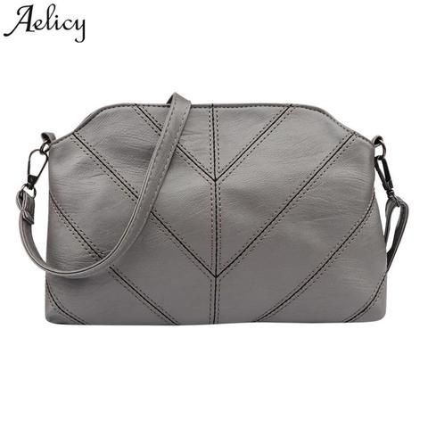 5244d7e3cf Aelicy Women Shoulder Bags Vintage Plaid Flap Soft Leather Crossbody Bag  Ladies Designer High Quality Messager Bags S30