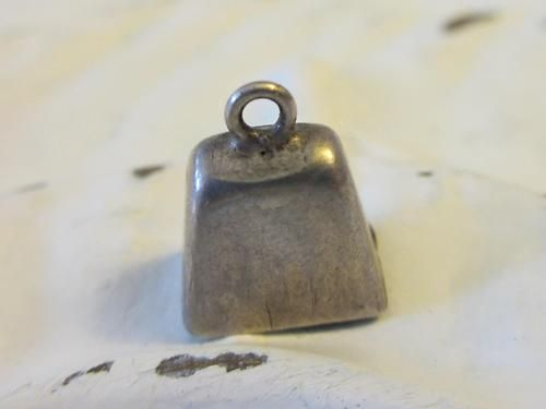 Vintage Sterling Silver Western Cowbell with Working Clapper Charm