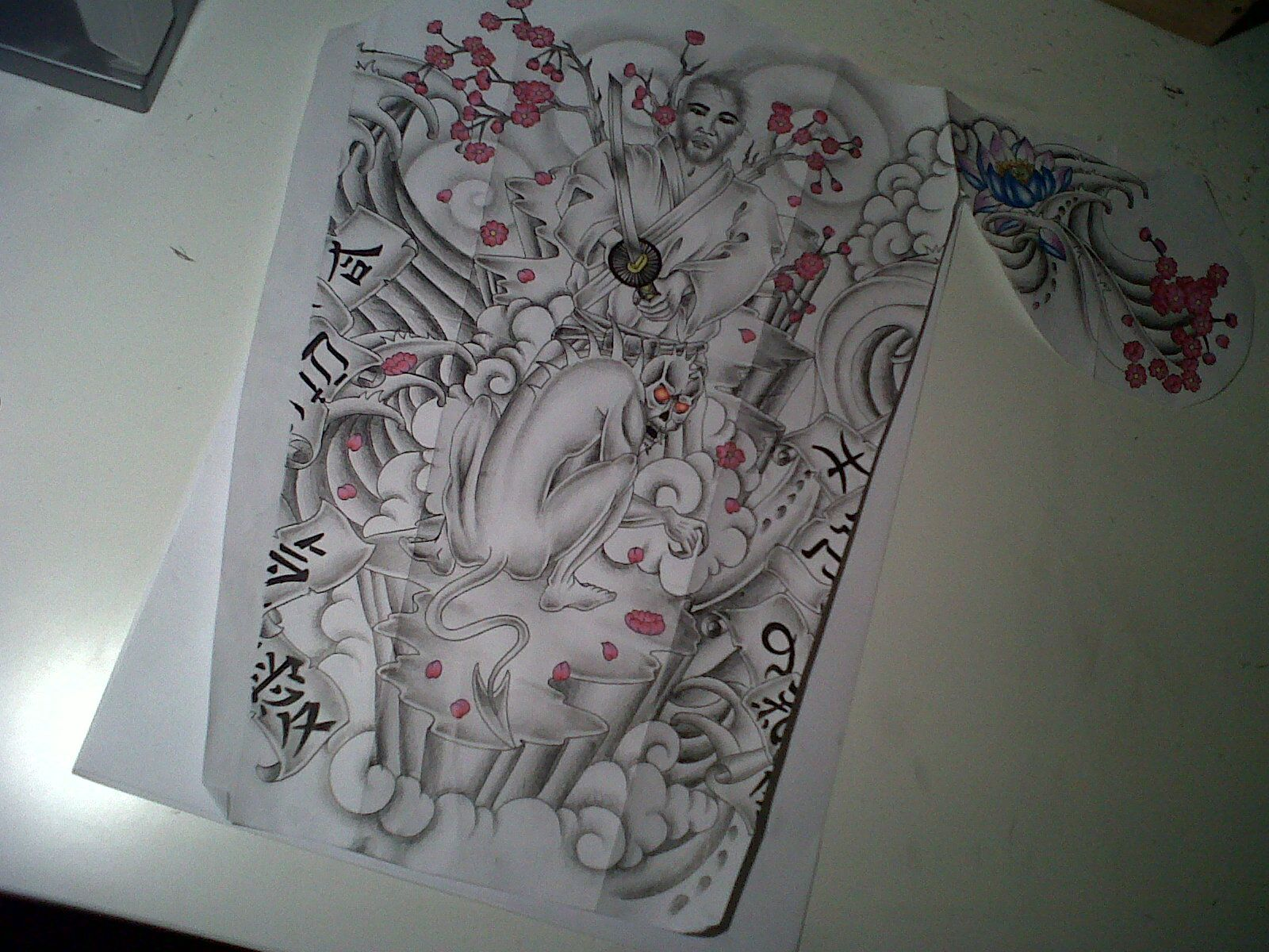 Japanese half sleeve tattoo designs - Japanese Samurai Vs Monster Half Sleeve Tattoo By Tattoosuzette Deviantart Com On Deviantart