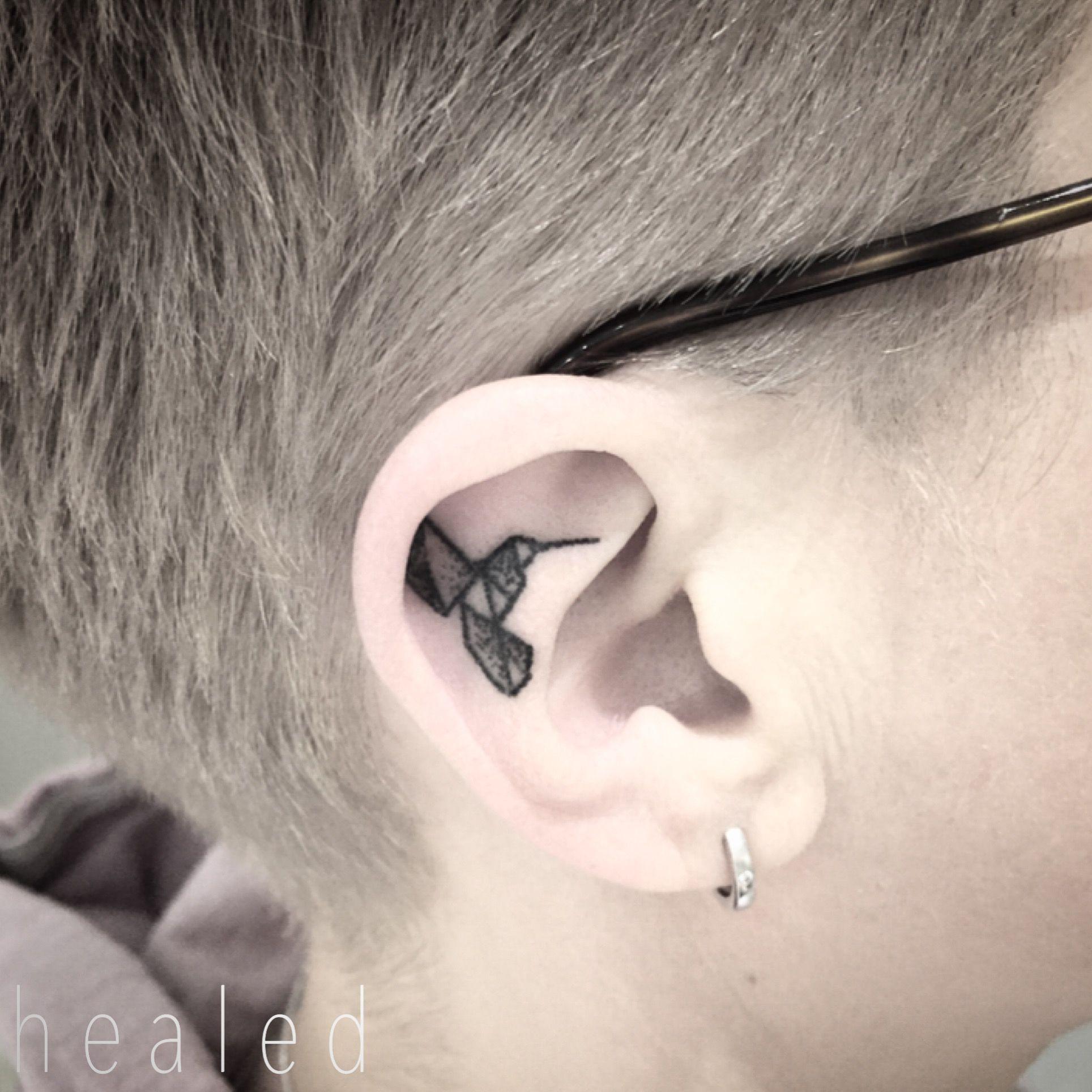 Healed up nose piercing  Healed Hummingbird  Handpoked by kokosmaedchen  TATTOOS MY STORY