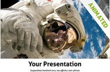 Another impressive Astronaut Powerpoint Template, which is