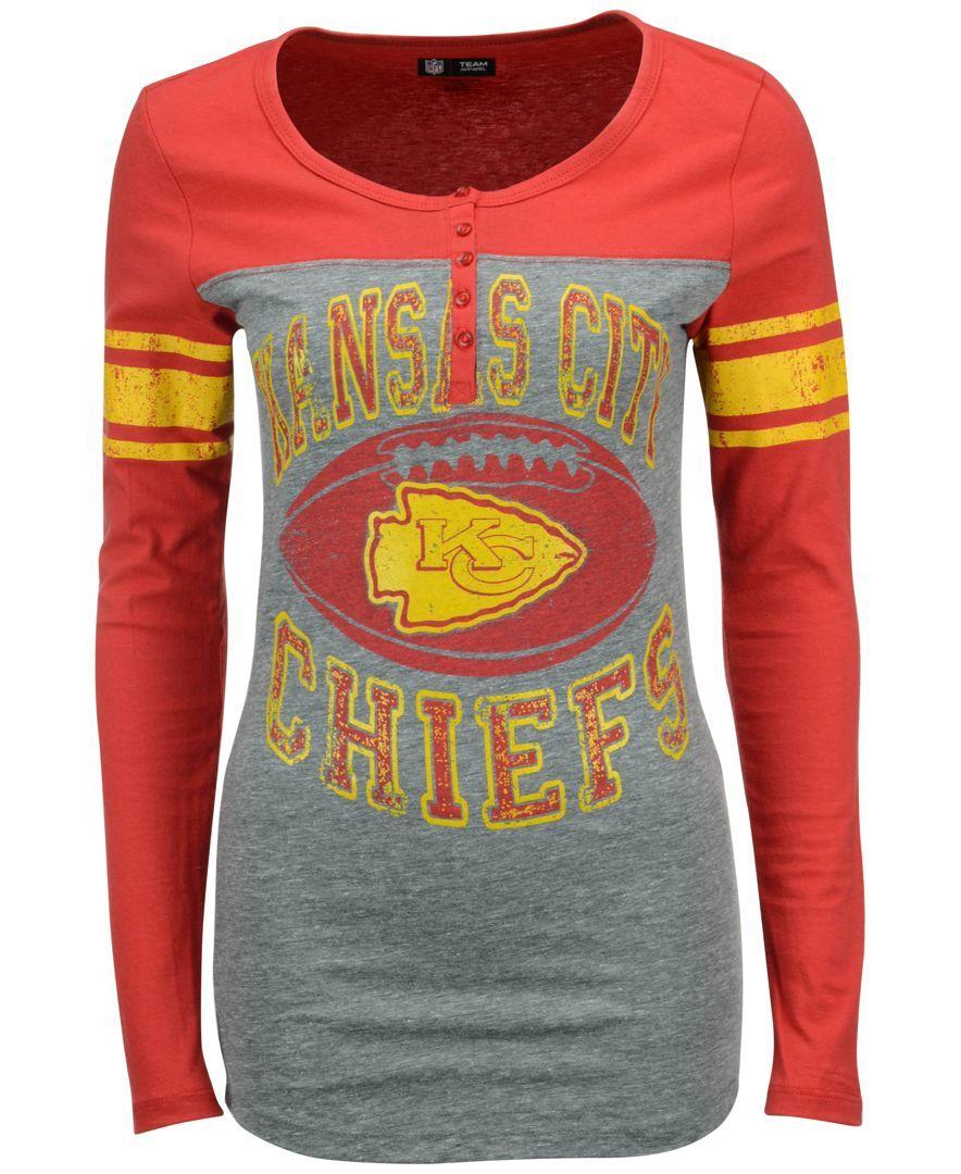 Yellow dress shirt men  th u Ocean Womenus Kansas City Chiefs Henley TShirt  Products