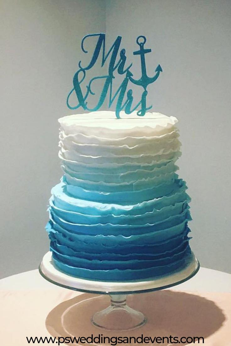 Mr And Mrs Cake Topper Anchor Cake Topper Nautical Cake Etsy In 2020 Anchor Cakes Bridal Shower Cake Topper Beach Cake Topper
