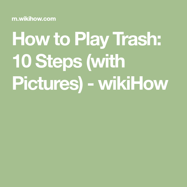 how to play pass the trash