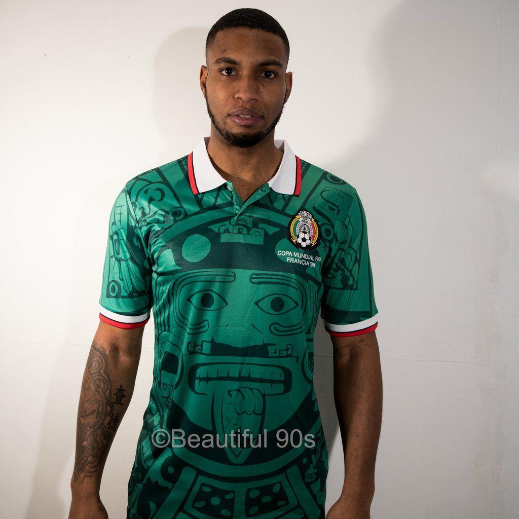 1998 Mexico Aztec Retro Replica Football Shirt Football Shirts Retro Football Shirts Retro