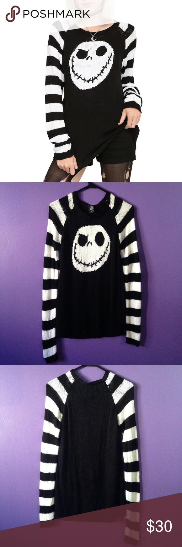Jack Skellington Knit Sweater | Jack Skellinton | Pinterest | Hot ...