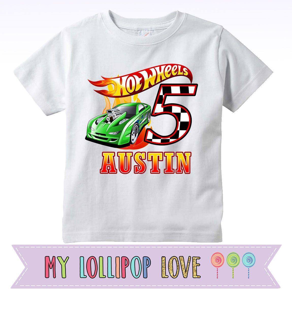 23590c3a7 Camiseta de cumpleaños de ruedas caliente Hot Wheels camisa