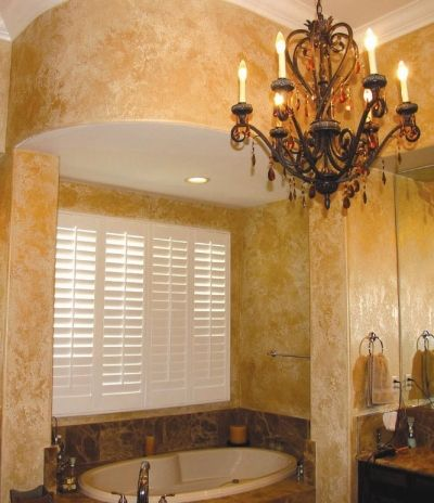 Sponged On Paint On These Bathroom Walls Imitates Natural Stone Bath Pinterest Natural