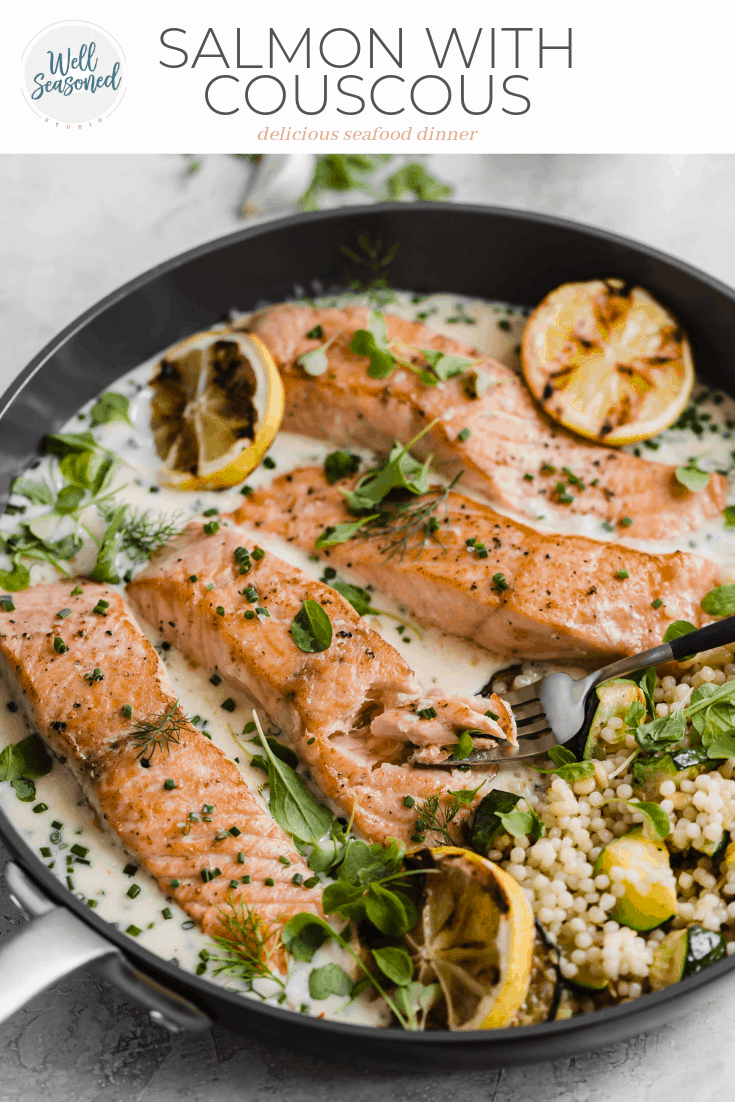 crispy pan seared salmon with a parmesan pan sauce so fresh and vibrant