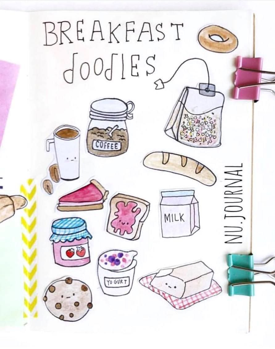 Breakfast Doodles : breakfast, doodles, Bullet, Journal, Ideas
