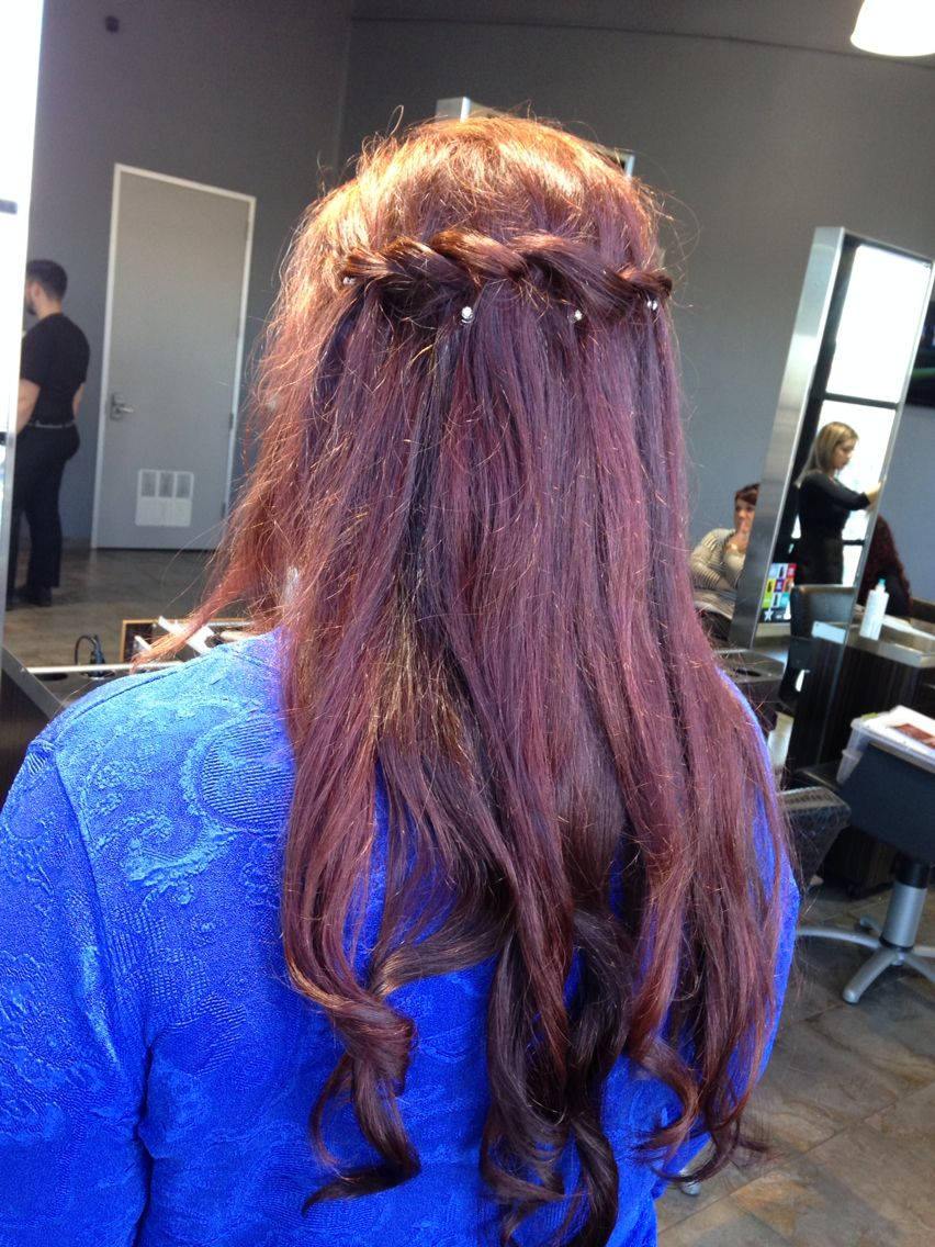 This Is Me I Got A Simple Waterfall Braid With Gentle Curls At